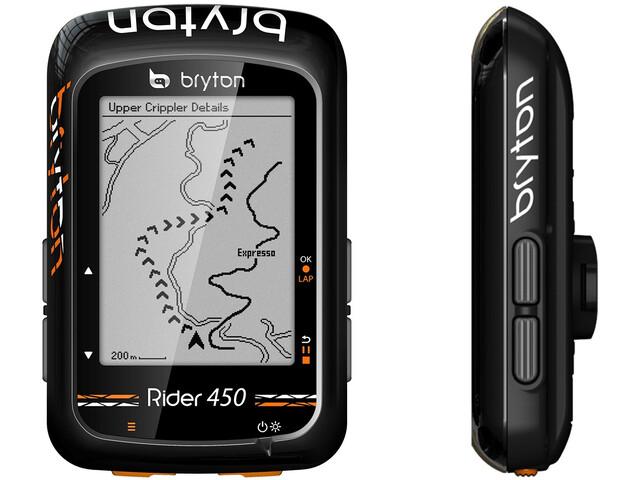 Bryton Rider 450 H HRM Fietscomputer, black
